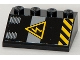 Part No: 3297pb031  Name: Slope 33 3 x 4 with Electricity Danger Sign and Black and Yellow Danger Stripes Pattern (Sticker) - Set 8633