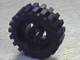 Part No: 3482c02  Name: Wheel with Split Axle hole, with Black Tire 30 x 10.5 Offset Tread (3482 / 2346)