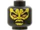 Part No: 3626bpb0621  Name: Minifig, Head Alien with SW Savage Opress, Yellow Zabrak Pattern - Blocked Open Stud