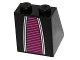 Part No: 3678bpb053  Name: Slope 65 2 x 2 x 2 with Bottom Tube with Alien Robe with Magenta Pattern