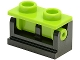 Part No: 3937c10  Name: Hinge Brick 1 x 2 Base with Lime Hinge Brick 1 x 2 Top (3937 / 3938)