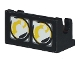 Part No: 3937pb02  Name: Hinge Brick 1 x 2 Base with Headlights Dual Pattern (Sticker) - Set 8286