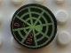 Part No: 4150pb072  Name: Tile, Round 2 x 2 with Neon Green Radar Type 2 Pattern (Sticker)