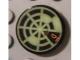 Part No: 4150pb102  Name: Tile, Round 2 x 2 with Neon Green Radar Type 4 Pattern (Sticker)