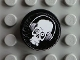 Part No: 4150pb137  Name: Tile, Round 2 x 2 with Skull with Headphones Pattern (Sticker) - Set 8682