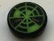 Part No: 4150pb188  Name: Tile, Round 2 x 2 with Neon Green Radar Type 6 Pattern (Sticker) - Set 7692