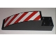 Part No: 41766pb01L  Name: Slope, Curved 8 x 2 x 2 with Red and White Danger Stripes Pattern Left (Sticker) - Set 7632