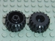 Part No: 41864  Name: Wheel Small Wide Hard Plastic Tread, Hole Notched for Wheels Holder Pin