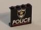 Part No: 4215pb067  Name: Panel 1 x 4 x 3 with Police Red Line and Yellow Star Badge Pattern (Printed)