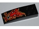 Part No: 44126pb029  Name: Slope, Curved 6 x 2 with Red Dragon Head Pattern (Sticker) - Set 8227