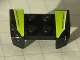 Part No: 44674pb08  Name: Vehicle, Mudguard 2 x 4 with Headlights Overhang with 'SuperFast' on Lime, White, and Black Pattern on Both Sides (Stickers) - Set 8119