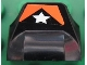Part No: 47458pb01  Name: Brick, Modified 1 x 2 x 2/3 No Studs, Wing End with White Star and Orange Pattern (Sticker) - Set 8661