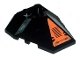 Part No: 47757pb13  Name: Wedge 4 x 4 Pyramid Center with Black Grille in Orange Triangle Pattern (Sticker) - Set 8101