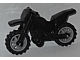 Part No: 50860c02  Name: Motorcycle Dirt Bike with Black Chassis and Light Bluish Gray Wheels