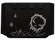 Part No: 52031pb063  Name: Wedge 4 x 6 x 2/3 Triple Curved with Skull Graffiti and Damage Marks Pattern (Sticker) - Set 5972