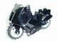 Part No: 52035c01  Name: Motorcycle City with Black Chassis (Short Fairing Mounts) and Light Bluish Gray Wheels