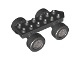 Part No: 54007c03  Name: Duplo Car Base 2 x 6 with Four Black Wheels and Flat Silver Hubs