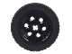 Part No: 56904c02  Name: Wheel 30mm D. x 14mm with Black Tire 43.2 x 14 Solid (56904 / 30699)