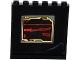 Part No: 59349pb092  Name: Panel 1 x 6 x 5 with Red Katana Sword on Black Screen Pattern on Inside (Sticker) - Set 70750