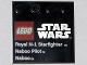 Part No: 6179pb039  Name: Tile, Modified 4 x 4 with Studs on Edge with Lego Star Wars Logo and 'Royal N-1 Starfighter Naboo Pilot Naboo' Pattern