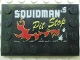 Part No: 6180pb016  Name: Tile, Modified 4 x 6 with Studs on Edges with 'SQUIDMAN's Pit Stop' Pattern (Sticker) - Set 5980