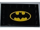 Part No: 6180pb053  Name: Tile, Modified 4 x 6 with Studs on Edges with Batman Logo on Rectangular Black Background Pattern (Sticker) - Set 6863
