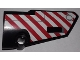 Part No: 64391pb037  Name: Technic, Panel Fairing # 4 Small Smooth Long, Side A with Red and White Danger Stripes Pattern (Sticker) - Set 9395