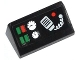 Part No: 85984pb039  Name: Slope 30 1 x 2 x 2/3 with Green and Red Buttons, 2 Gauges and Radio Pattern (Sticker) - Set 42008