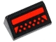 Part No: 85984pb075  Name: Slope 30 1 x 2 x 2/3 with Red Rectangle, 2 Triangles and 11 Red Circles Pattern (Sticker) - Set 79120