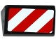 Part No: 85984pb091R  Name: Slope 30 1 x 2 x 2/3 with Red and White Danger Stripes Thick Pattern Model Right Side (Sticker) - Set 60075