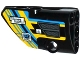Part No: 87080pb020  Name: Technic, Panel Fairing # 1 Small Smooth Short, Side A with Grille and Sponsor Logos on Blue, Yellow and Black Background Pattern (Sticker) - Set 42034