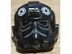 Part No: 87556pb08  Name: Minifigure, Headgear Helmet SW Stormtrooper Type 2, TIE Fighter Pilot Pattern 3