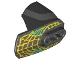 Part No: 90640pb003  Name: Hero Factory Armor with Ball Joint Socket - Size 4 with Yellow Beast Scales Pattern