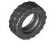 Part No: 92409  Name: Tire 17.5mm D. x 6mm with Shallow Staggered Treads - Band Around Center of Tread