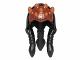 Part No: 92760pb02  Name: Minifigure, Headgear Headdress SW Zabrak Front Skull Spikes, Black Dots on Front and Hair Agen Kolar Pattern