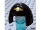 Part No: 95328pb01  Name: Minifig, Headgear Hair Female Mid-Length, Smooth with Bangs and Gold Diadem Pattern (Egyptian Queen)