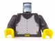 Part No: 973p40c01  Name: Torso Castle Breastplate Pattern / Black Arms / Yellow Hands