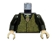 Part No: 973pb0473c01  Name: Torso Speed Racer Tweed Vest with Rep Striped Tie Pattern / Black Arms / Light Flesh Hands
