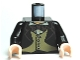 Part No: 973pb0741c01  Name: Torso Harry Potter Jacket Formal with 4 Button Vest and Brown Bow Tie Pattern / Black Arms / Light Flesh Hands