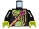 Part No: 973pb0896c01  Name: Torso Alien Conquest Alien Shoulder Strap Pattern / Black Arms / Lime Hands