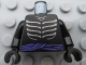 Part No: 973pb0912c01  Name: Torso Ninjago Skeleton Ribs Gray and Purple Waist Sash Pattern / Black Arms / Black Hands