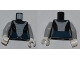 Part No: 973pb0949c01  Name: Torso SW Light Bluish Gray Armor Bib Pattern (Asajj Ventress 7957) / Light Bluish Gray Arms / White Hands