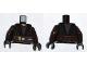Part No: 973pb1043c01  Name: Torso SW Jedi Robe, Dark Brown Belt Pattern (Anakin Clone Wars) / Dark Brown Arms / Black Hands