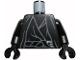 Part No: 973pb1141c01  Name: Torso LotR Cloak with Gray Folds Pattern (Ringwraith) / Black Arms / Black Hands