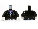 Part No: 973pb1464c01  Name: Torso Batman Jacket Formal with Lavender Bow Tie Pattern / Black Arms / White Hands