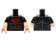 Part No: 973pb1823c01  Name: Torso Shirt with Muscles and Red Superman 'S' Logo Pattern / Light Flesh Arms with Black Short Sleeves Pattern / Light Flesh Hands