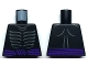 Part No: 973pb3415  Name: Torso Ninjago Skeleton Ribs Gray and Dark Purple Waist Sash with Gray Muscles Outline on Back Pattern