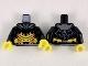 Part No: 973pb3476c01  Name: Torso Armor, Dark Bluish Gray Collar, Yellow Abdomen Plates with Orange Trim Pattern / Black Arms / Yellow Hands