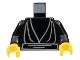Part No: 973ps2c01  Name: Torso SW Jedi Robe, Waist Sash Pattern / Black Arms / Yellow Hands