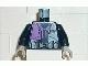 Part No: 973px139c01  Name: Torso Alpha Team Logo, Purple Shirt and 3 Pockets on Belt Pattern / Black Arms / Light Gray Hands